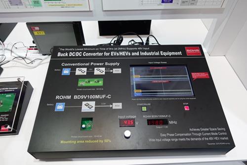 搭载超高速脉冲控制技术的降压型DC/DC转换器演示
