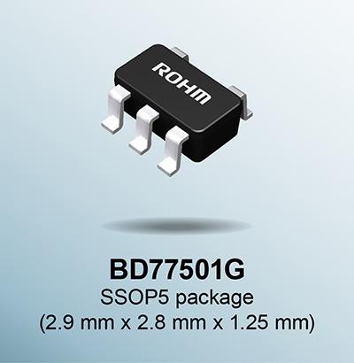 BD77501G SSOP5 package (2.9mm×2.8mm×1.25mm)