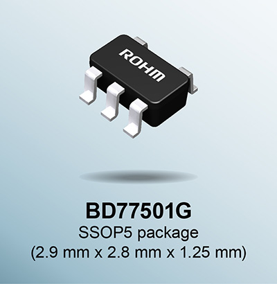 BD77501G SSOP5 package (2.9mm×2.8mm×1.25mm)