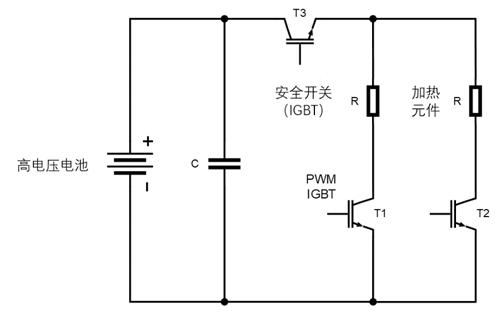 图2.  具有两个加热元件的高压加热器的基本电路